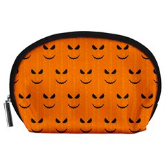 Funny Halloween   Face Pattern Accessory Pouches (large)  by MoreColorsinLife
