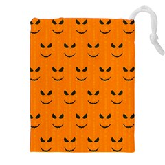 Funny Halloween   Face Pattern Drawstring Pouches (xxl) by MoreColorsinLife