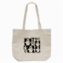 Funny Halloween   Ghost Pattern 2 Tote Bag (cream) by MoreColorsinLife