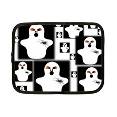 Funny Halloween   Ghost Pattern 2 Netbook Case (small)  by MoreColorsinLife