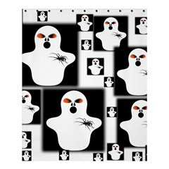 Funny Halloween   Ghost Pattern 2 Shower Curtain 60  X 72  (medium)  by MoreColorsinLife