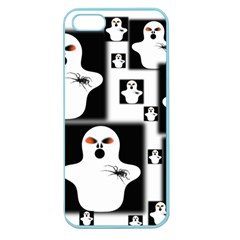 Funny Halloween   Ghost Pattern 2 Apple Seamless Iphone 5 Case (color) by MoreColorsinLife