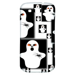 Funny Halloween   Ghost Pattern 2 Samsung Galaxy S3 S Iii Classic Hardshell Back Case by MoreColorsinLife