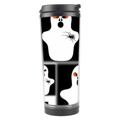 Funny Halloween   Ghost Pattern 2 Travel Tumbler by MoreColorsinLife