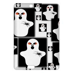 Funny Halloween   Ghost Pattern 2 Amazon Kindle Fire Hd (2013) Hardshell Case by MoreColorsinLife