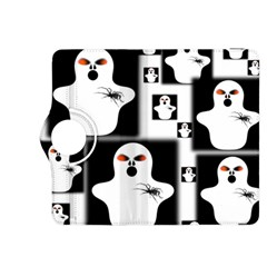 Funny Halloween   Ghost Pattern 2 Kindle Fire Hdx 8 9  Flip 360 Case by MoreColorsinLife