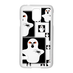 Funny Halloween   Ghost Pattern 2 Samsung Galaxy S5 Case (white) by MoreColorsinLife