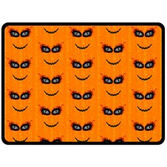 Funny Halloween   Face Pattern 2 Fleece Blanket (large)  by MoreColorsinLife