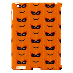 Funny Halloween   Face Pattern 2 Apple Ipad 3/4 Hardshell Case (compatible With Smart Cover) by MoreColorsinLife