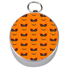 Funny Halloween   Face Pattern 2 Silver Compasses by MoreColorsinLife
