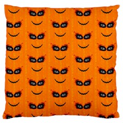 Funny Halloween   Face Pattern 2 Large Flano Cushion Case (one Side) by MoreColorsinLife