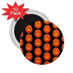 Funny Halloween   Pumpkin Pattern 2 2 25  Magnets (10 Pack)  by MoreColorsinLife