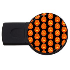 Funny Halloween   Pumpkin Pattern 2 Usb Flash Drive Round (4 Gb) by MoreColorsinLife
