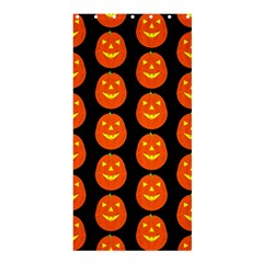 Funny Halloween   Pumpkin Pattern 2 Shower Curtain 36  X 72  (stall)  by MoreColorsinLife