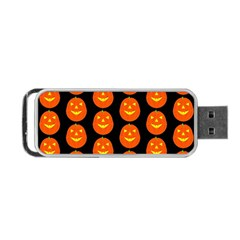 Funny Halloween   Pumpkin Pattern 2 Portable Usb Flash (two Sides) by MoreColorsinLife