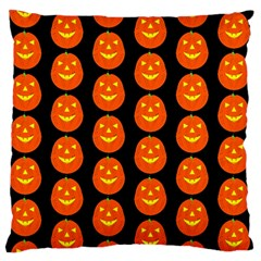 Funny Halloween   Pumpkin Pattern 2 Large Flano Cushion Case (two Sides) by MoreColorsinLife
