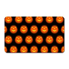 Funny Halloween   Pumpkin Pattern Magnet (rectangular) by MoreColorsinLife