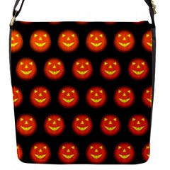 Funny Halloween   Pumpkin Pattern Flap Messenger Bag (s) by MoreColorsinLife