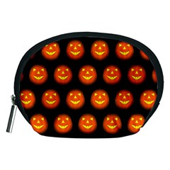 Funny Halloween   Pumpkin Pattern Accessory Pouches (medium)  by MoreColorsinLife