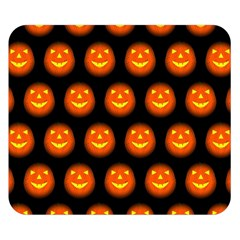 Funny Halloween   Pumpkin Pattern Double Sided Flano Blanket (small)  by MoreColorsinLife