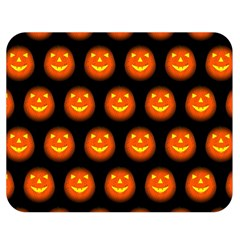 Funny Halloween   Pumpkin Pattern Double Sided Flano Blanket (medium)  by MoreColorsinLife