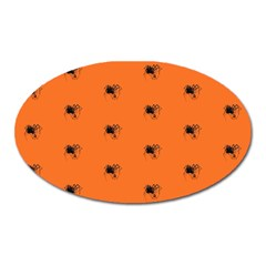 Funny Halloween   Spider Pattern Oval Magnet by MoreColorsinLife