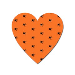 Funny Halloween   Spider Pattern Heart Magnet by MoreColorsinLife