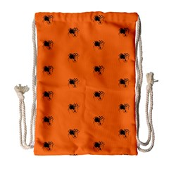 Funny Halloween   Spider Pattern Drawstring Bag (large) by MoreColorsinLife