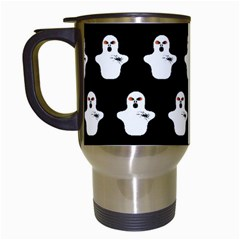 Funny Halloween   Ghost Pattern Travel Mugs (white) by MoreColorsinLife