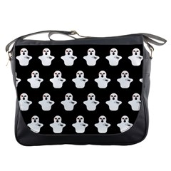 Funny Halloween   Ghost Pattern Messenger Bags by MoreColorsinLife