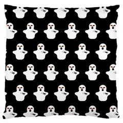 Funny Halloween   Ghost Pattern Large Cushion Case (two Sides) by MoreColorsinLife
