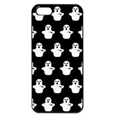 Funny Halloween   Ghost Pattern Apple Iphone 5 Seamless Case (black) by MoreColorsinLife