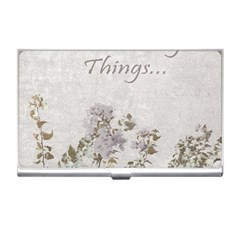 Shabby Chic Style Motivational Quote Business Card Holders by dflcprints