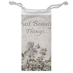 Shabby Chic Style Motivational Quote Jewelry Bag by dflcprints