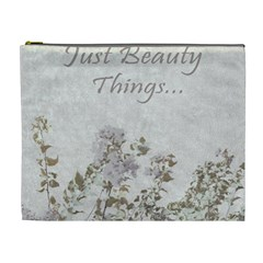Shabby Chic Style Motivational Quote Cosmetic Bag (xl) by dflcprints