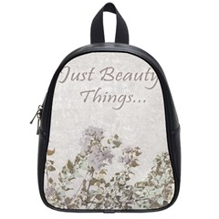 Shabby Chic Style Motivational Quote School Bags (small)  by dflcprints