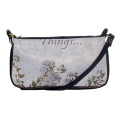 Shabby Chic Style Motivational Quote Shoulder Clutch Bags by dflcprints