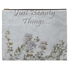 Shabby Chic Style Motivational Quote Cosmetic Bag (xxxl)  by dflcprints