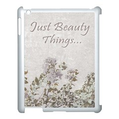 Shabby Chic Style Motivational Quote Apple Ipad 3/4 Case (white) by dflcprints