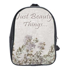 Shabby Chic Style Motivational Quote School Bags (xl)  by dflcprints