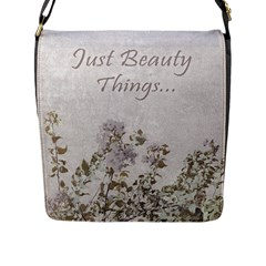 Shabby Chic Style Motivational Quote Flap Messenger Bag (l)  by dflcprints