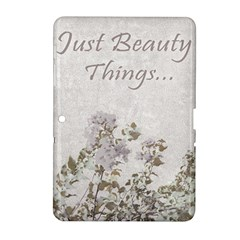 Shabby Chic Style Motivational Quote Samsung Galaxy Tab 2 (10 1 ) P5100 Hardshell Case  by dflcprints