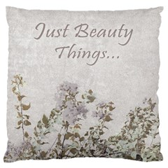 Shabby Chic Style Motivational Quote Standard Flano Cushion Case (one Side) by dflcprints