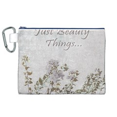 Shabby Chic Style Motivational Quote Canvas Cosmetic Bag (xl) by dflcprints