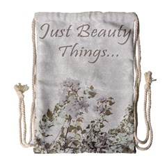 Shabby Chic Style Motivational Quote Drawstring Bag (large) by dflcprints