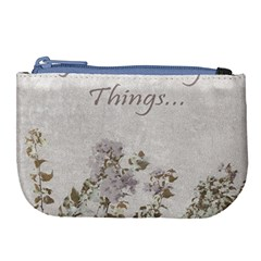 Shabby Chic Style Motivational Quote Large Coin Purse by dflcprints