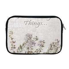 Shabby Chic Style Motivational Quote Apple Macbook Pro 17  Zipper Case by dflcprints