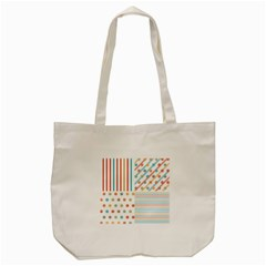 Simple Saturated Pattern Tote Bag (cream) by linceazul
