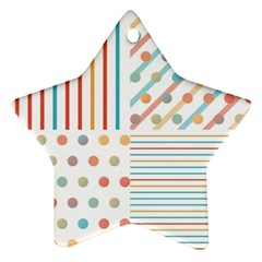 Simple Saturated Pattern Star Ornament (two Sides) by linceazul