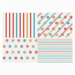 Simple Saturated Pattern Large Glasses Cloth (2 Side) by linceazul